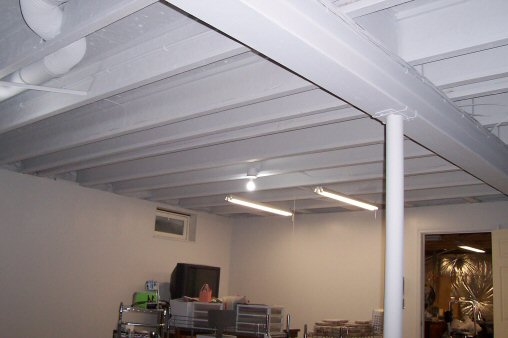 How to Paint a Basement Ceiling with Exposed Joists for an ...