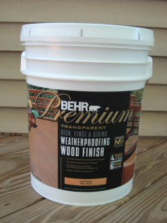 behr premium weatherproofer for decks and fences 5 gallon container