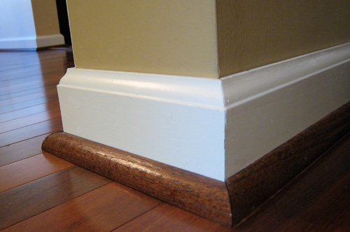 Baseboard with Quarter Round or Shoe Molding 500 x 332