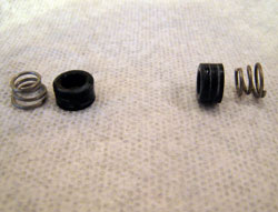 Springs and rubber seals