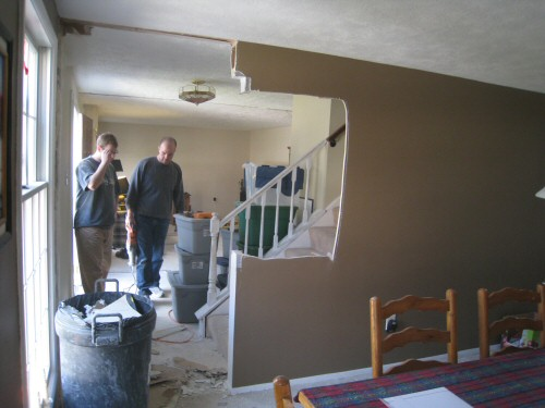 take-down-wall-between-stairs-dining-room