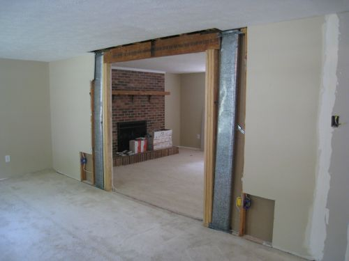 How to remove a load bearing wall part 2 one project for Removing part of a load bearing wall