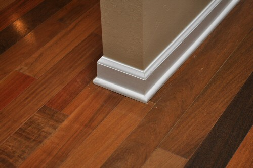 Floor Wood Baseboard : Painting vs staining quarter round shoe molding trim