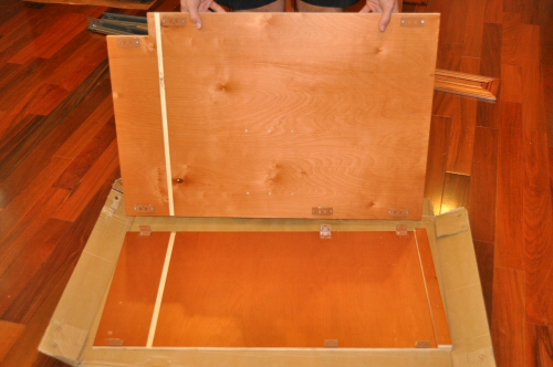 assembling the back of an IPC maple cabinet