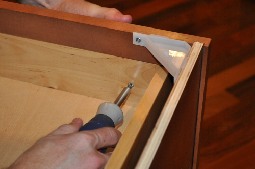 maple drawer front installation
