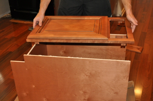 solid wood cabinet face assembly