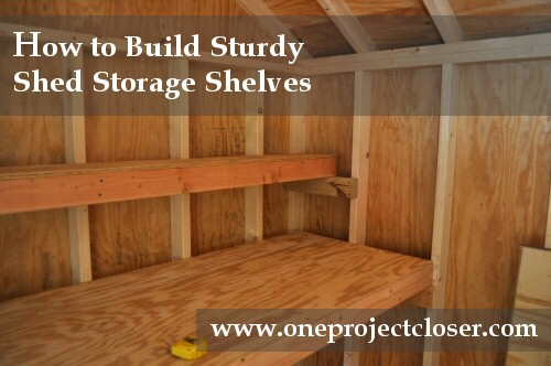 Shelving Plans For Shed