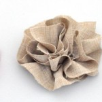 DIY Ruffled Fabric Flowers