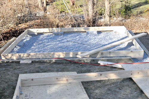 build shed with concrete floor 1