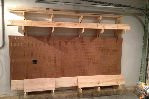 wood storage rack woodworking plans