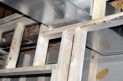 an important part of framing a room is providing a nailing surface for
