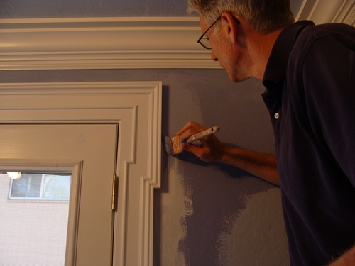 How to paint a three piece crown molding one project closer for What is the trim around a door called