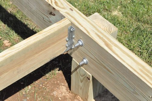 How To Build A Post Beam Shed Foundation On A Slope on Pier And Beam Cabin Foundation Plans