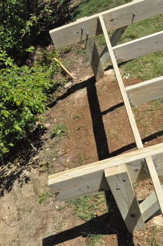 How To Build A Post Beam Shed Foundation On A Slope One Project | Apps ...