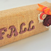 Fall Decor Using Wood Scraps and Burlap
