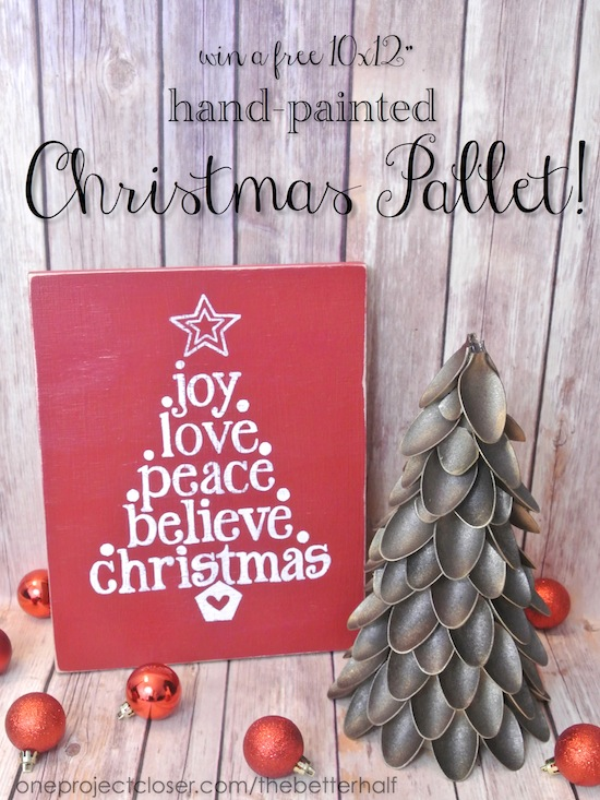 Win a free Christmas Pallet