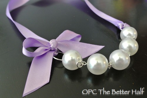 DIY Interchangeable Ribbon and Pearl Necklaces - OPC The Better Half
