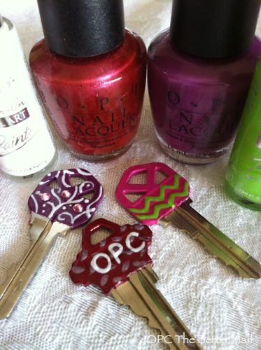 Personalized Keys with Nail Polish - OPC The Better Half