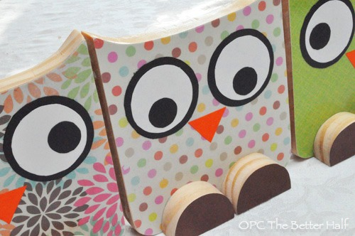 DIY Wooden Owls - OPC The Better Half