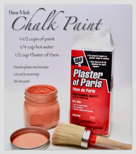 DIY/Homemade ChalkPaint - OPC The Better Half