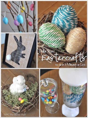 Dollar Store Crafts To Do In 5 Minutes or Less - OPC The Better Half