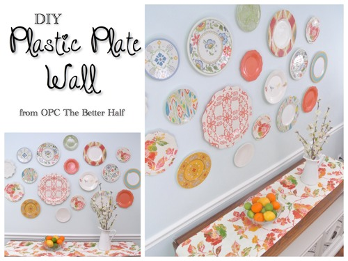 DIY Plastic Plate Wall - OPC The Better Half