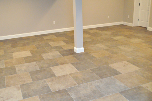 Completed tile installation