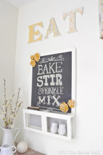 Chalkboard and Wooden Letters - OPC The Better Half