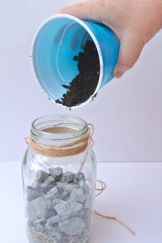 Soil into jar - OPC The Better Half