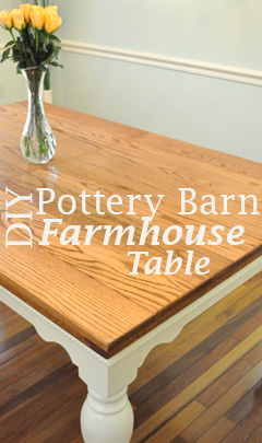 Diy Pottery Barn Farmhouse Table One Project Closer