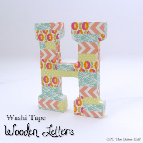 Washi Tape Wooden Letter - OPC The Better Half