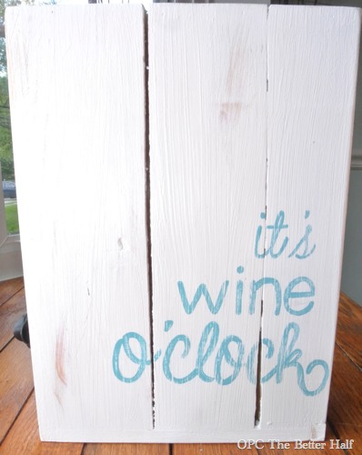Its wine o'clock boxed wine holder/ diy wine box - OPC The Better Half