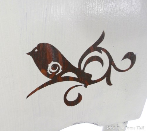 Inverse Stenciled Bird - OPC The Better Half