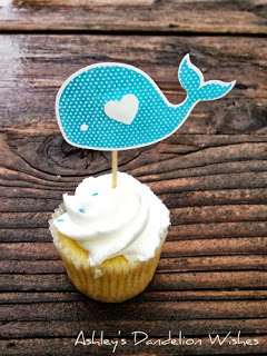 Whale Cupcake Toppers 1