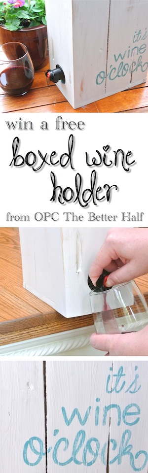 Win a free boxed wine holder from OPC The Better Half