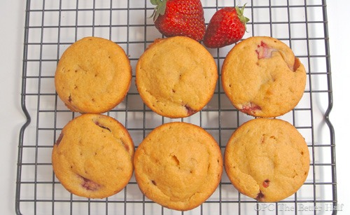 Strawberries and Cream Muffins from OPC The Better Half