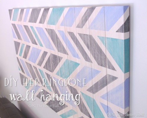 DIY Herringbone Wall Hanging- OPC The Better Half