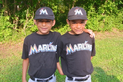 Jose and Bear - GO Marlins!