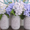 Joining the Cool Kids:  Painted Mason Jars with Flowers!