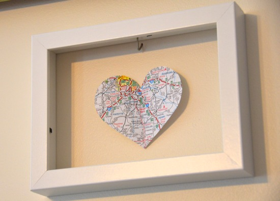 Map heart cut - out - One Project Closer