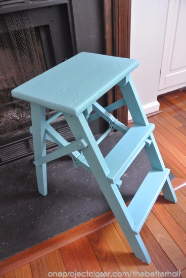 Painted step ladder - One Project Closer