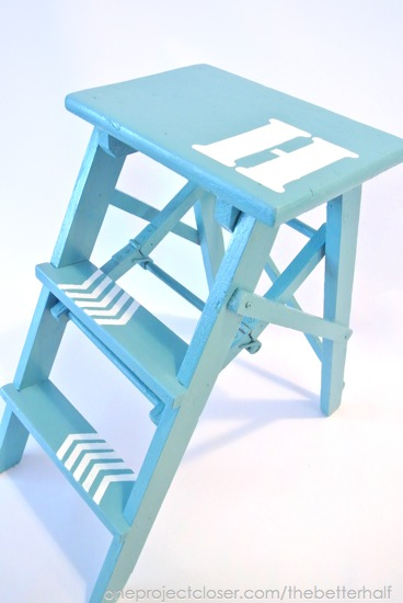 Step Ladder Makeover from One Project Closer