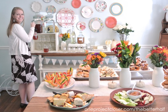 Fall Bridal Shower Ideas - One Project Closer