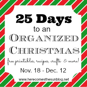 25 Days to an Organized Christmas