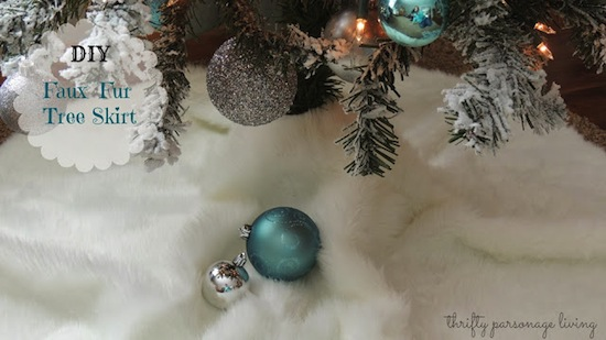 Faux Fur Tree Skirt