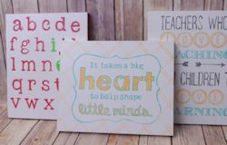 Homemade Teacher Gifts: Easy Wood Sign Tutorial