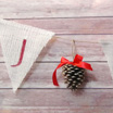 DIY Christmas Bunting with Burlap and Pine Cones