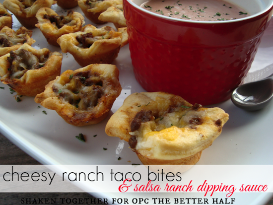 cheesy ranch taco bites