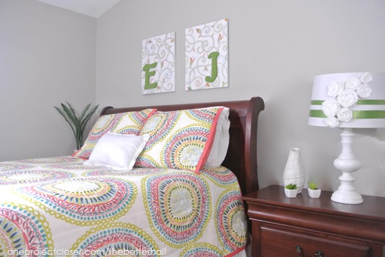 bedroom makeover from One Project Closer
