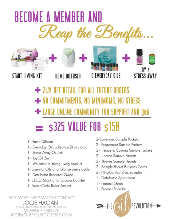 Young Living Membership kit- One Project Closer